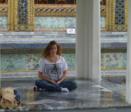 Meditation in Thailand Palace Cropped