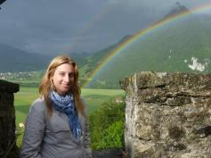Double Rainbow in Gruyere, Switzerland