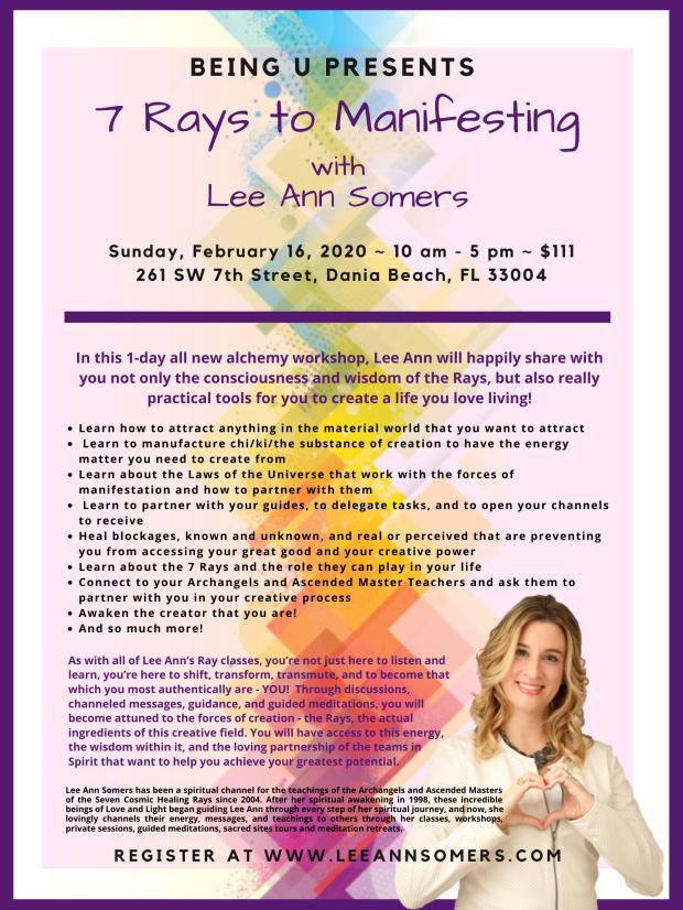 7 Rays to Manifesting Flyer